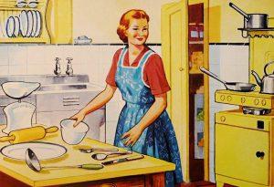 Una casalinga in cucina... negli anni 60